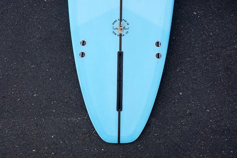 Ultimate-Performance-Longboard-Poly-Fiberglass-Light-Blue-Resin-Tint-Tail