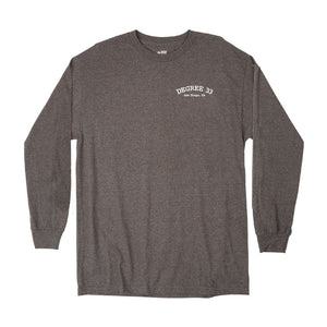 Degree 33 Bus Logo Long Sleeve Shirt (Heather Grey)