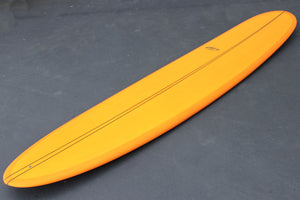 "10""2"" Wedge Noserider Amber Resin Tint Darkwood Stringer Longboard Surfboard (Poly)"