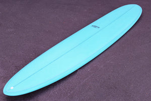 "9'7"" Wedge Noserider Longboard Surfboard Aqua Resin Tint (Poly)"