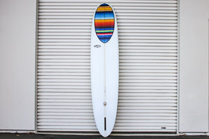 "10'2"" Wedge Noserider Mexican Blanket Longboard Surfboard (Poly)"