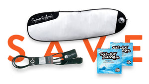 Surfboard Bag, Leash and Wax Bundle