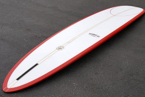 "10'2"" Wedge Noserider Red Rail Longboard Surfboard (Poly)"