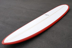"9'2"" Wedge Noserider Red Rail Longboard Surfboard (Poly)"