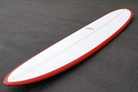 "9'2"" Wedge Noserider Red Rail Longboard (Poly)"