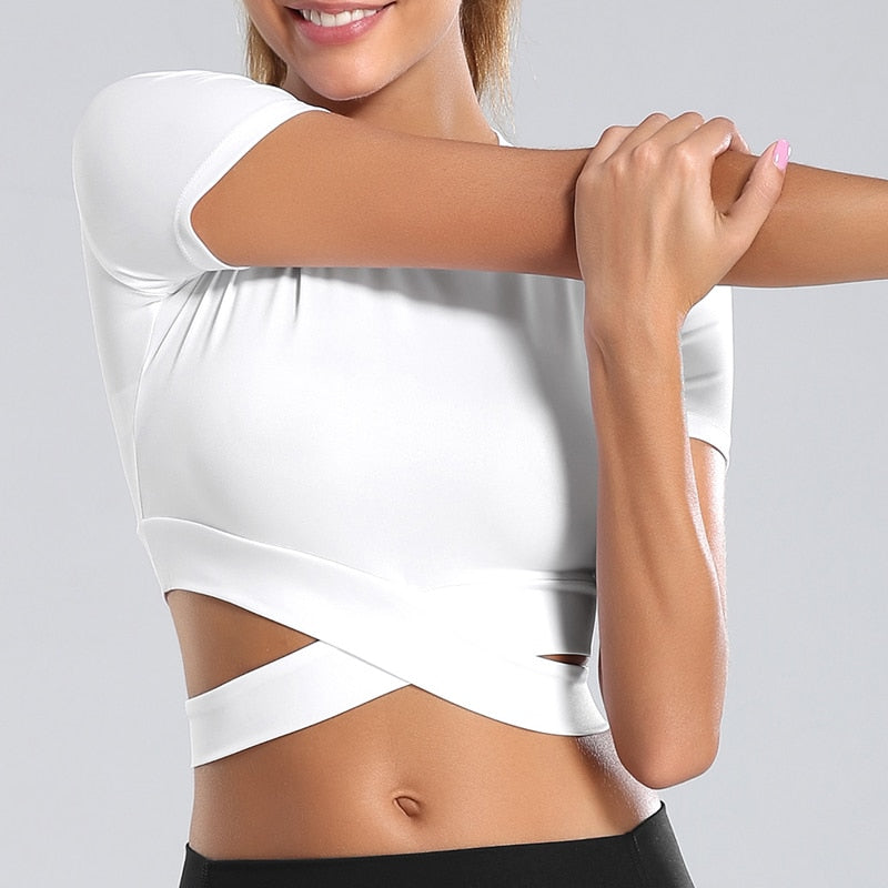 Cross Fit Women Fitness Crop Top