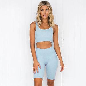 Open image in slideshow, Ribbed Biker Shorts Seamless Set