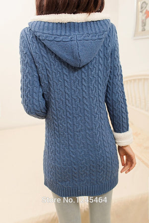 2020 New cashmere thick warm hooded coat – Travel Time