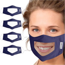 Load image into Gallery viewer, The Clear'n Comfy Mask - Dark Blue