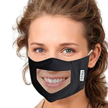 Load image into Gallery viewer, The Clear'n Comfy Mask - Black