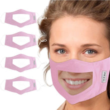Load image into Gallery viewer, The Clear'n Comfy Mask - Pink