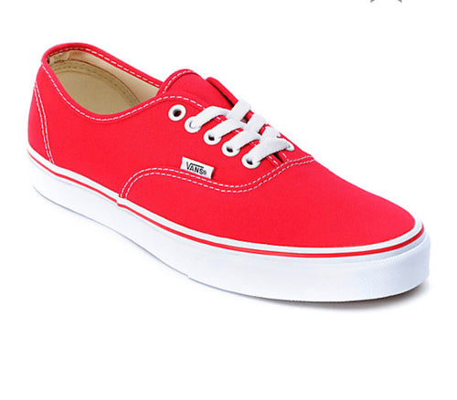 Vans Authentic Red/White