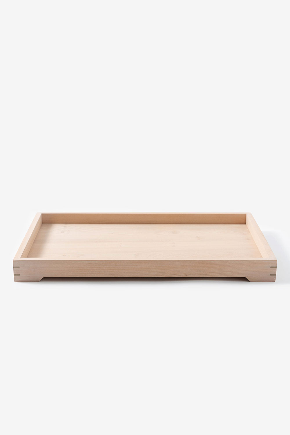 Alabama Chanin Alabama Sawyer: Handmade Wood and Brass Tray Breakfast in Bed Large Tray in White Magnolia