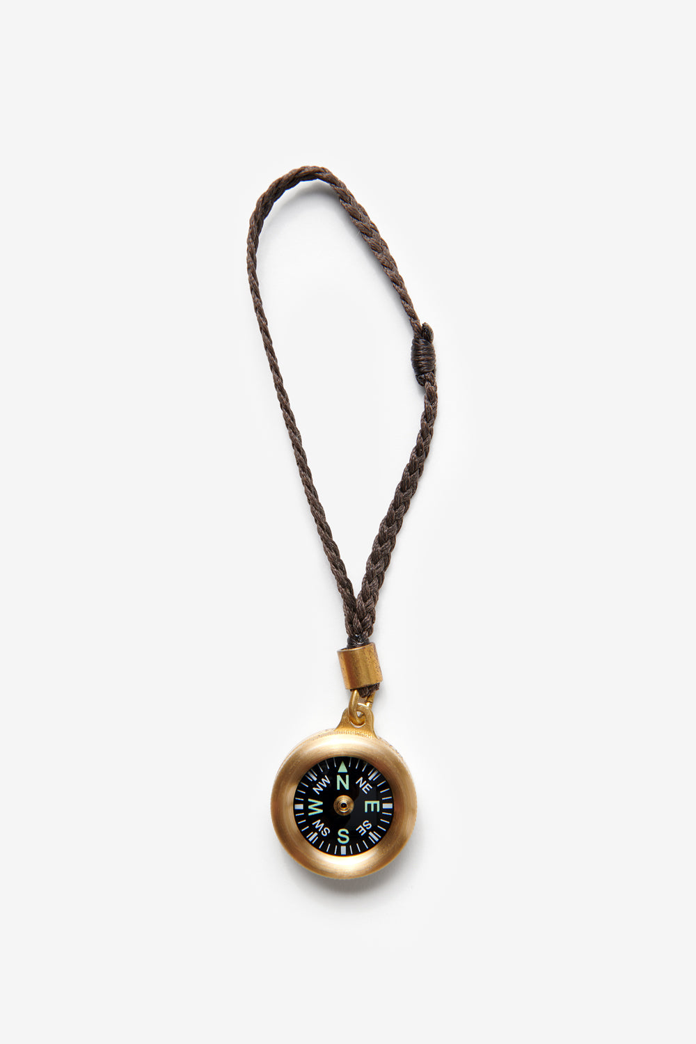 Alabama Chanin Traveler's Compass in Brass with Brown Leather Strap