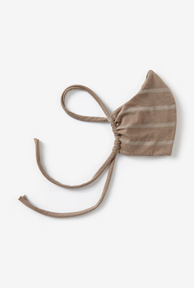 Alabama Chanin Edison Face Mask Reusable Face Mask Machine-Sewn with Organic Cotton in Brown