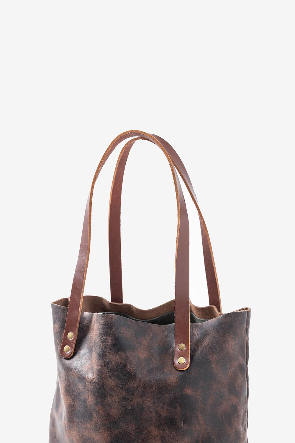 Alabama Chanin Hawks and Doves Handmade Leather Bag with Rivets and Straps
