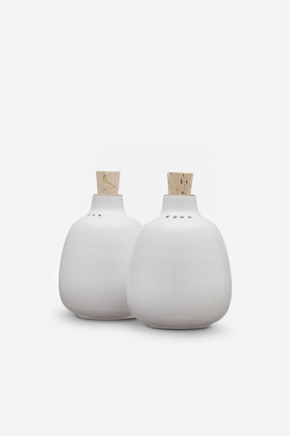 Alabama Chanin Heath Ceramics Salt and Pepper Shaker Set in Opaque White
