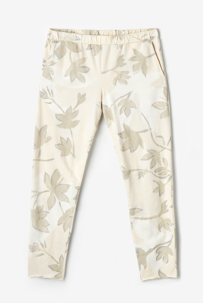 Alabama Chanin The Jogger Pant with Hand-Painted Floral Print