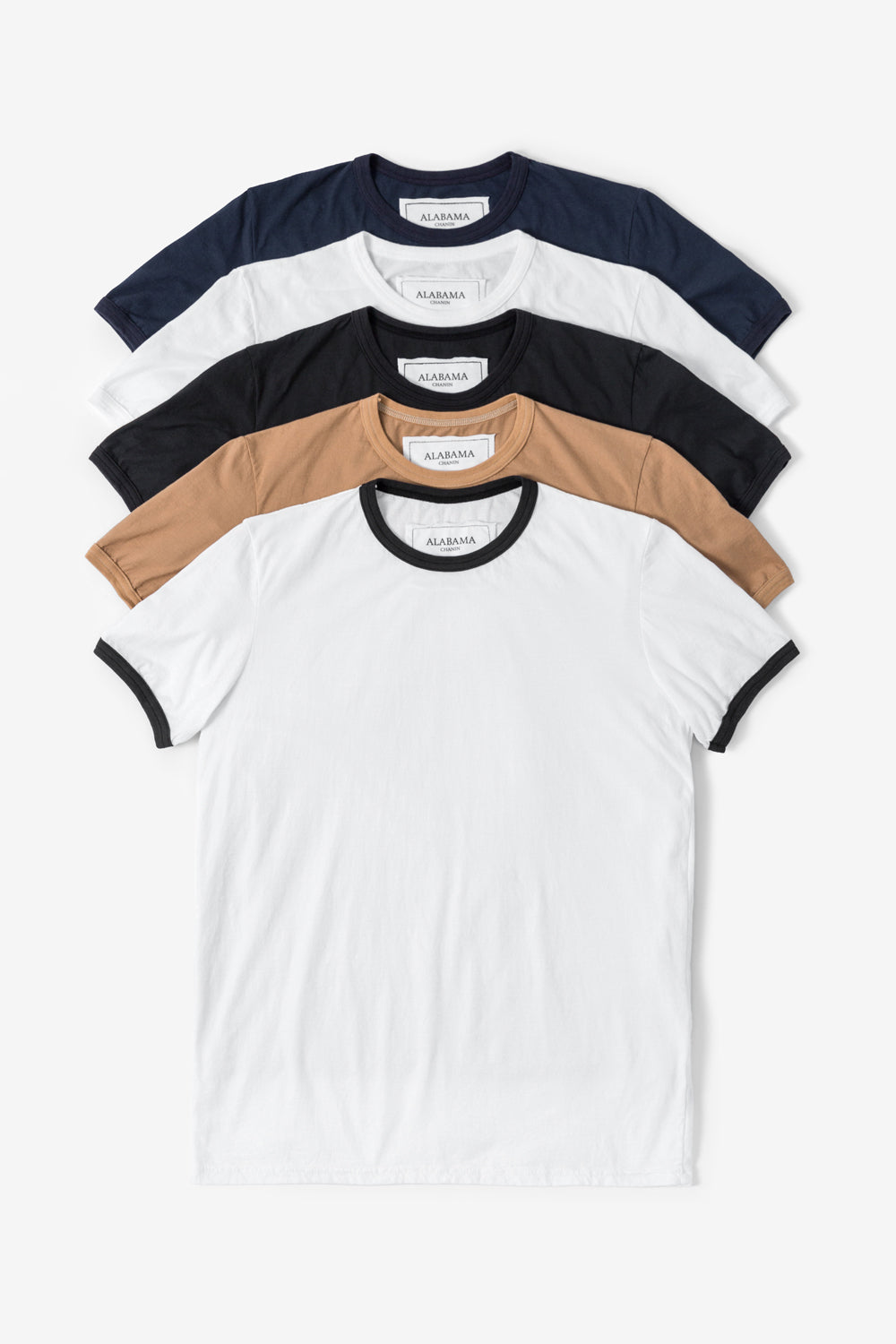 Alabama Chanin The Love Tee Bundle Classic Pick T-Shirt in Light Brown and Black