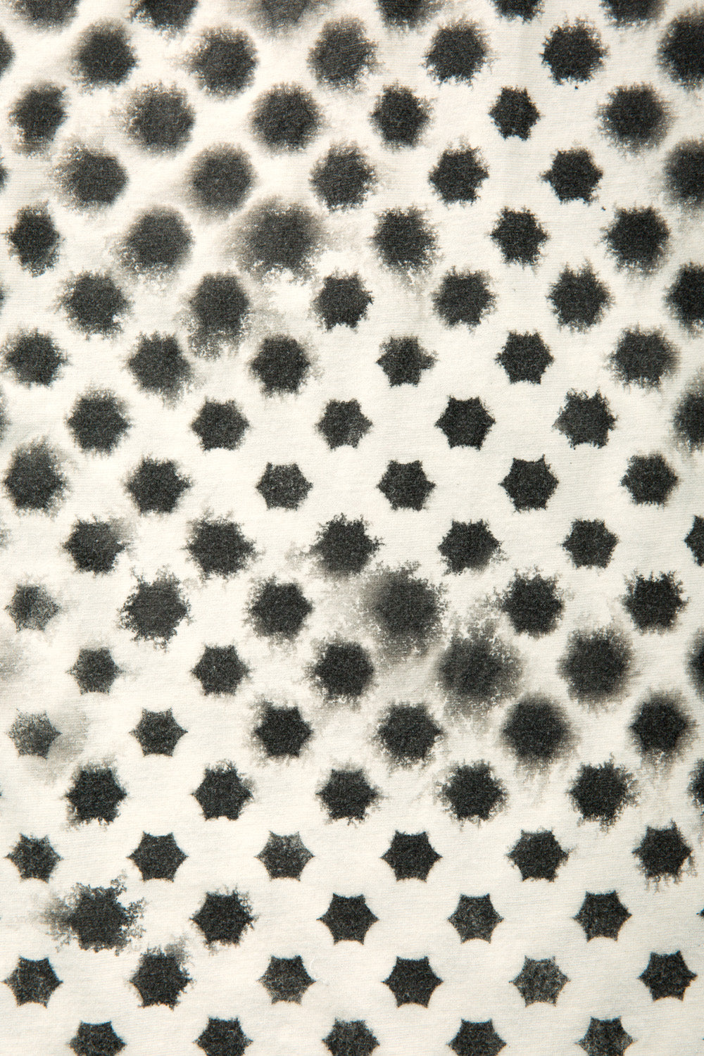 The School of Making Faded Stars Car Coat Kit Hand Stenciled Faded Grey Stars