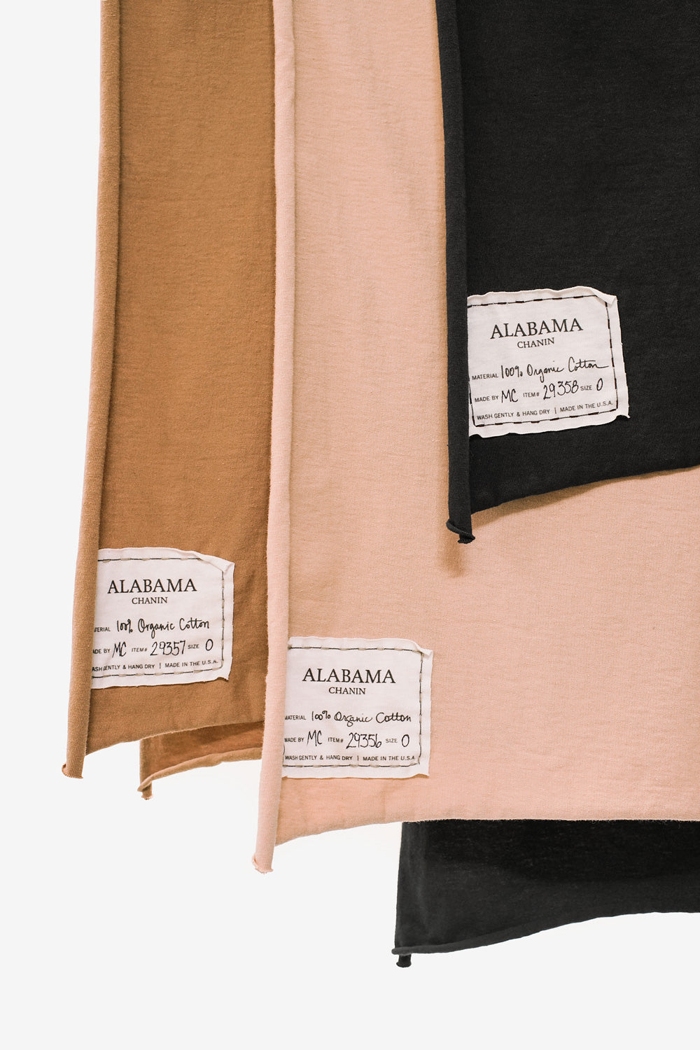 Alabama Chanin Women's Organic Cotton Scarf in Light Brown Black and Pink