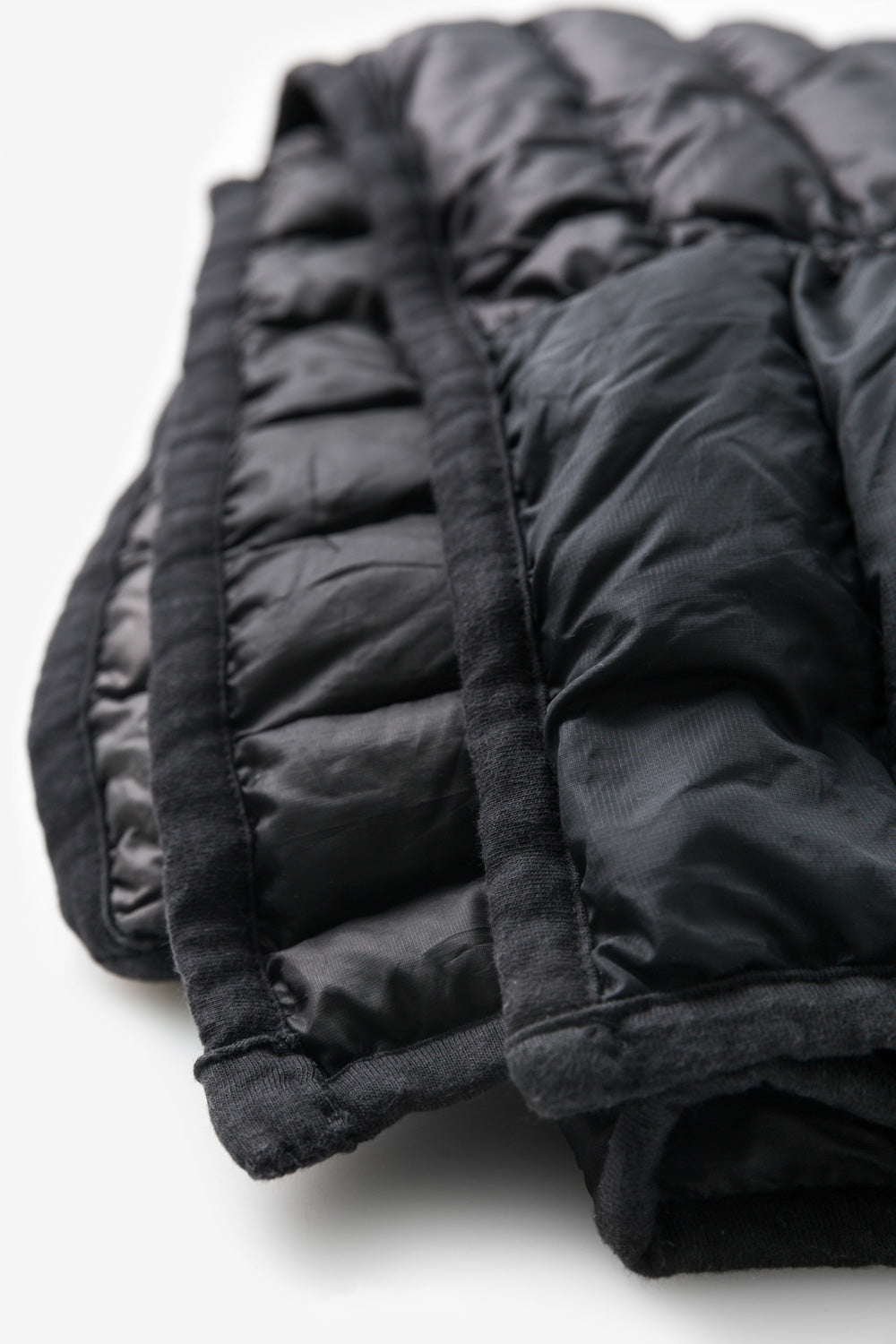 Alabama Chanin Reclaimed Down Wrap in Black Sustainable Upcycled from Down Jackets in Alabama