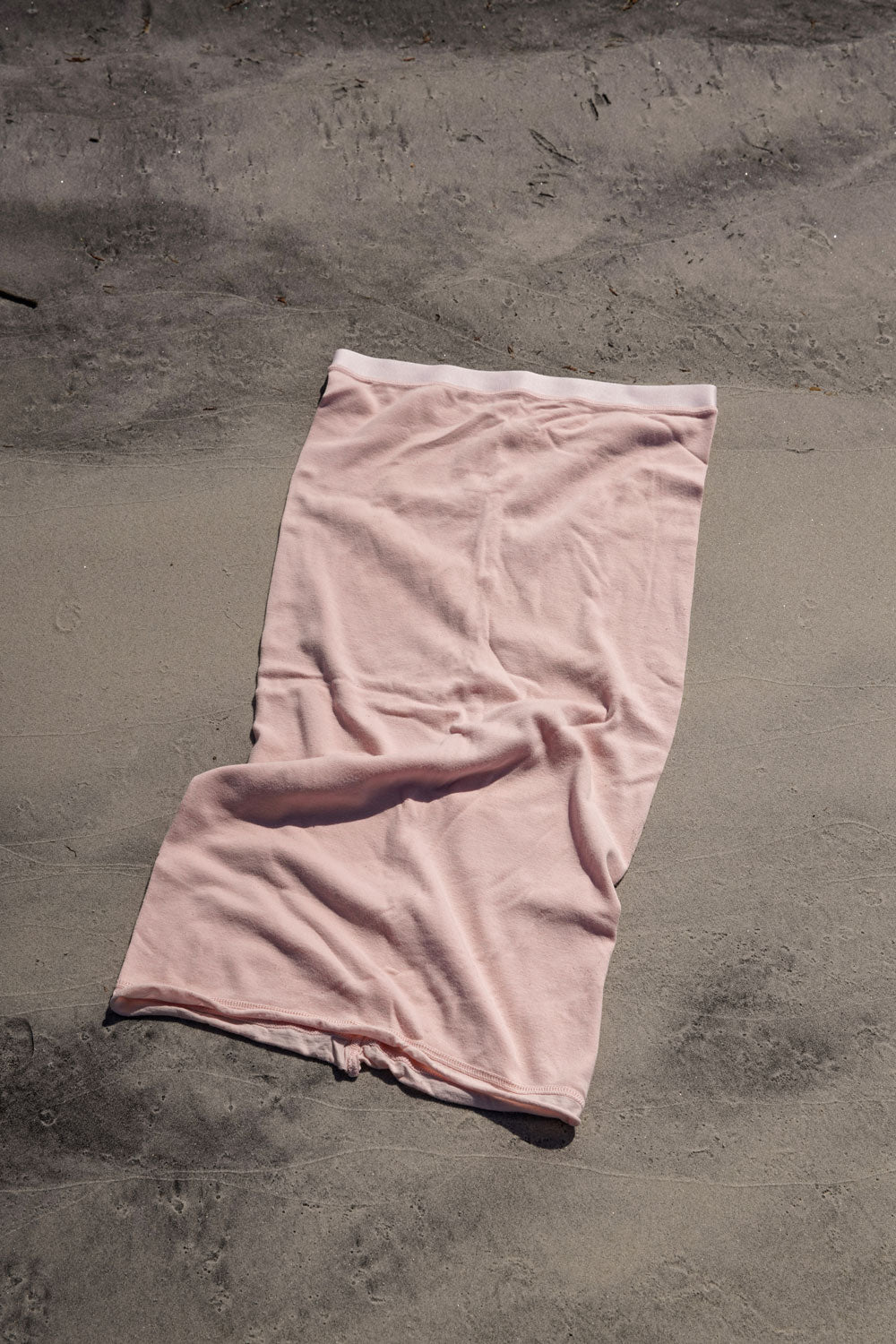 Alabama Chanin 100% Organic Cotton Skirt in Pink Naturally Dyed in Madder