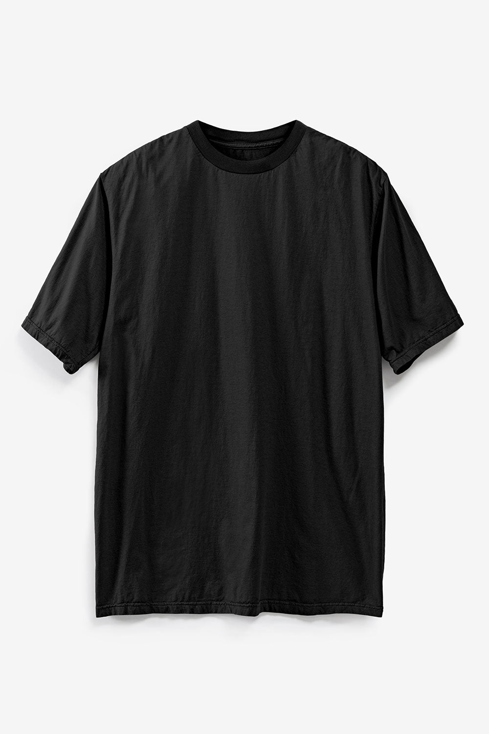 Alabama Chanin The Boyfriend Tee Machine Sewn Organic Cotton Tee in Black