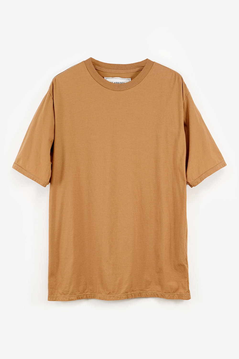Alabama Chanin Boyfriend Tee Oversized Organic Cotton Light Brown Shirt