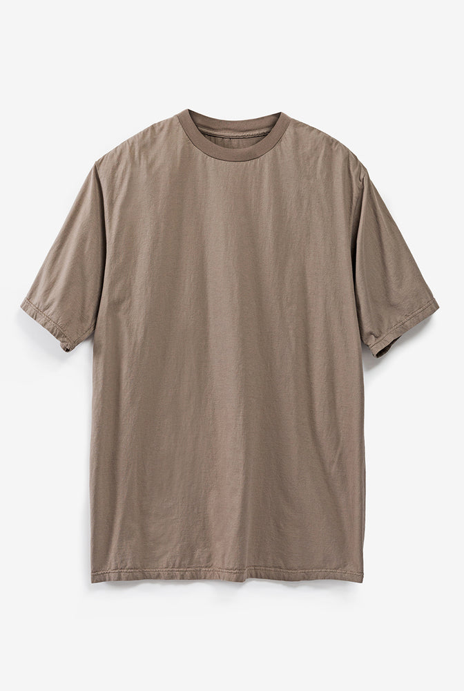 Alabama Chanin The Boyfriend Tee Organic Cotton Women's T-Shirt in Brown