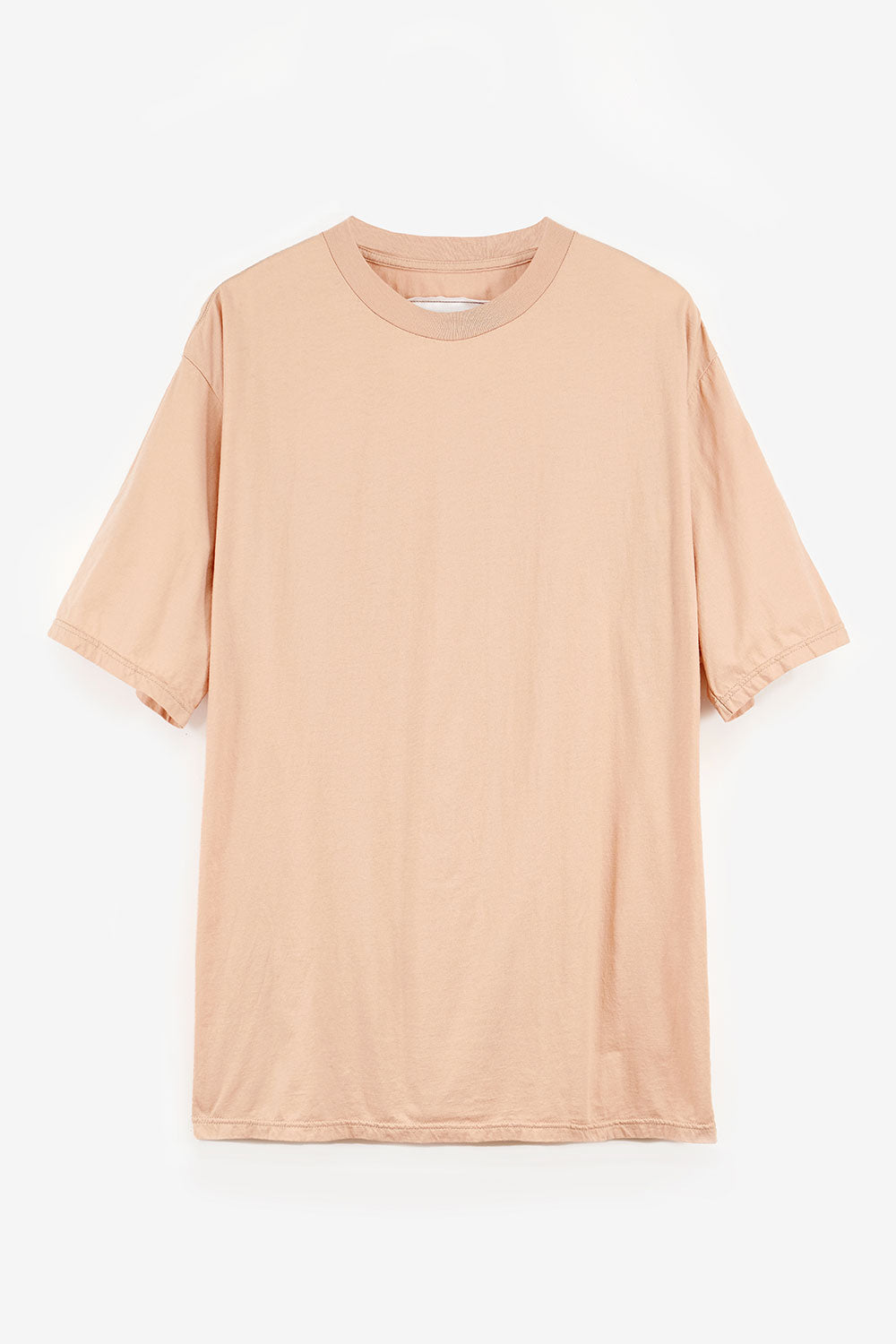 Alabama Chanin The Boyfriend Tee Lightweight Oversized Tee with Short Sleeves in Pink