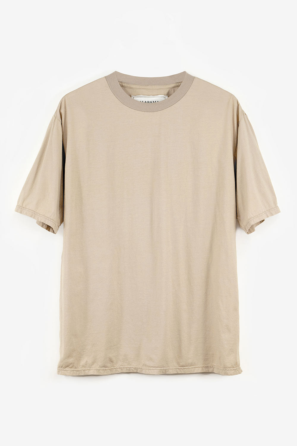 Alabama Chanin The Boyfriend Tee Oversized Organic Cotton T-Shirt in Tan