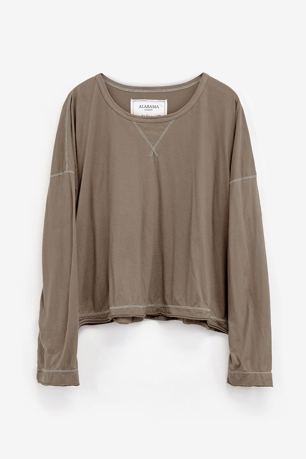 Alabama Chanin Organic Cotton Womens Coverup Top Oversized with Long Sleeves
