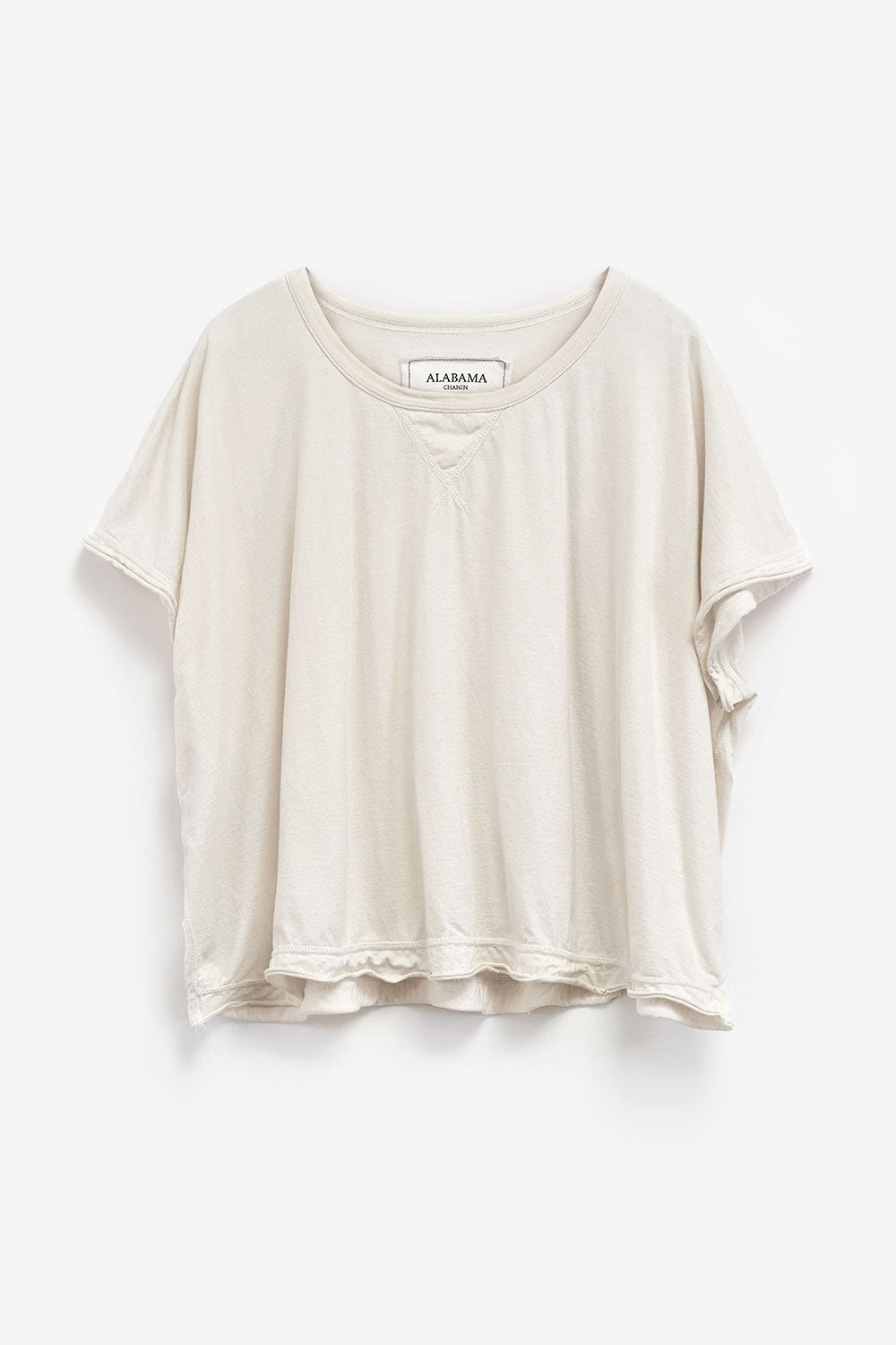 Alabama Chanin Oversized Coverup Organic Cotton Womens Top in Natural