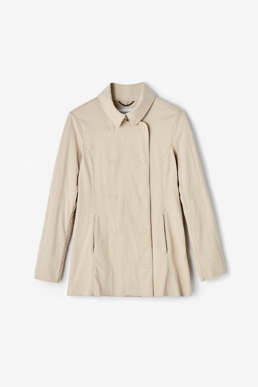 Alabama Chanin The Peacoat in Organic Medium-Weight Jersey Cotton with Pockets in Wax
