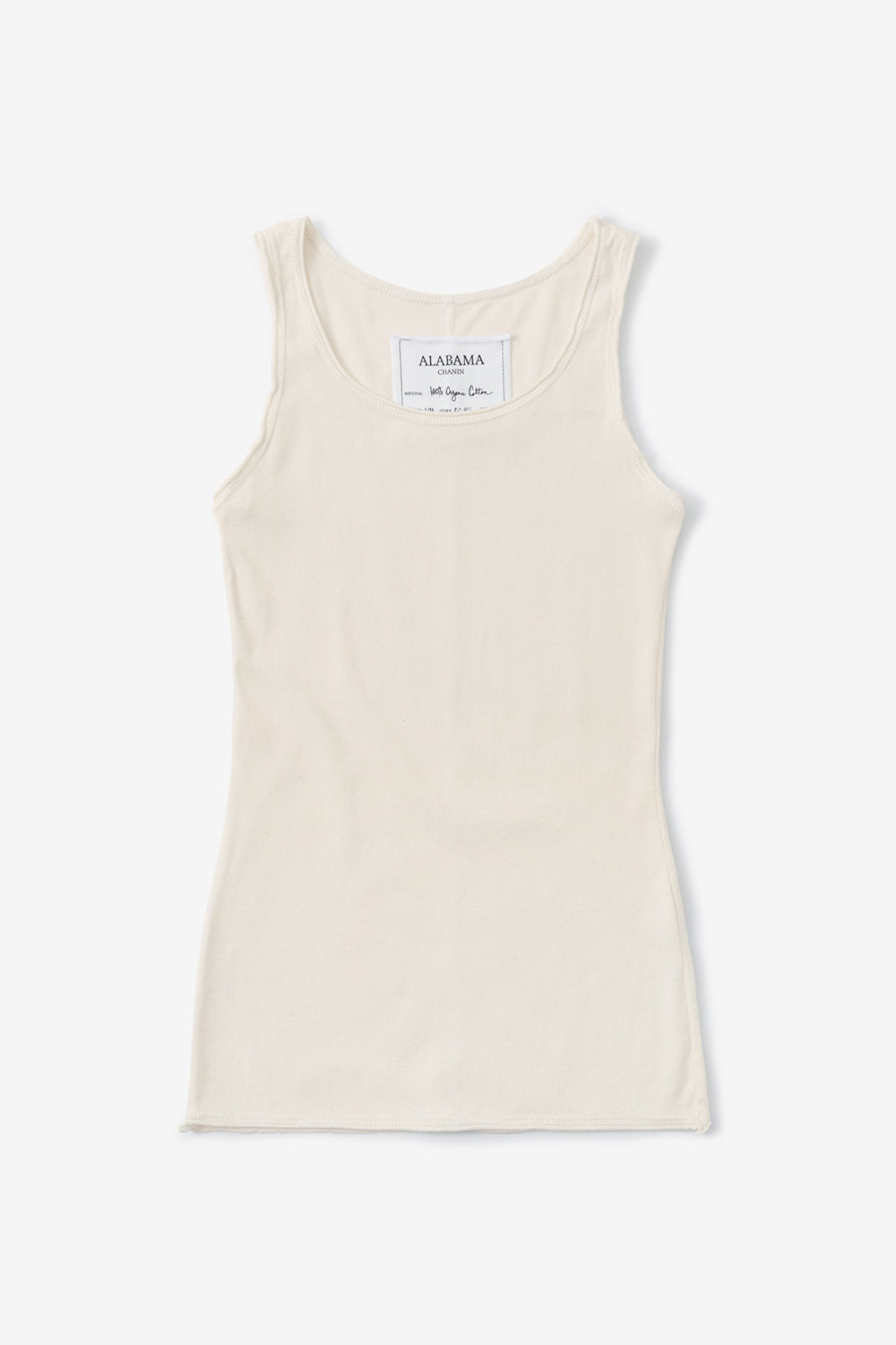 Alabama Chanin The Tank Sleeveless Rib Knit in Natural