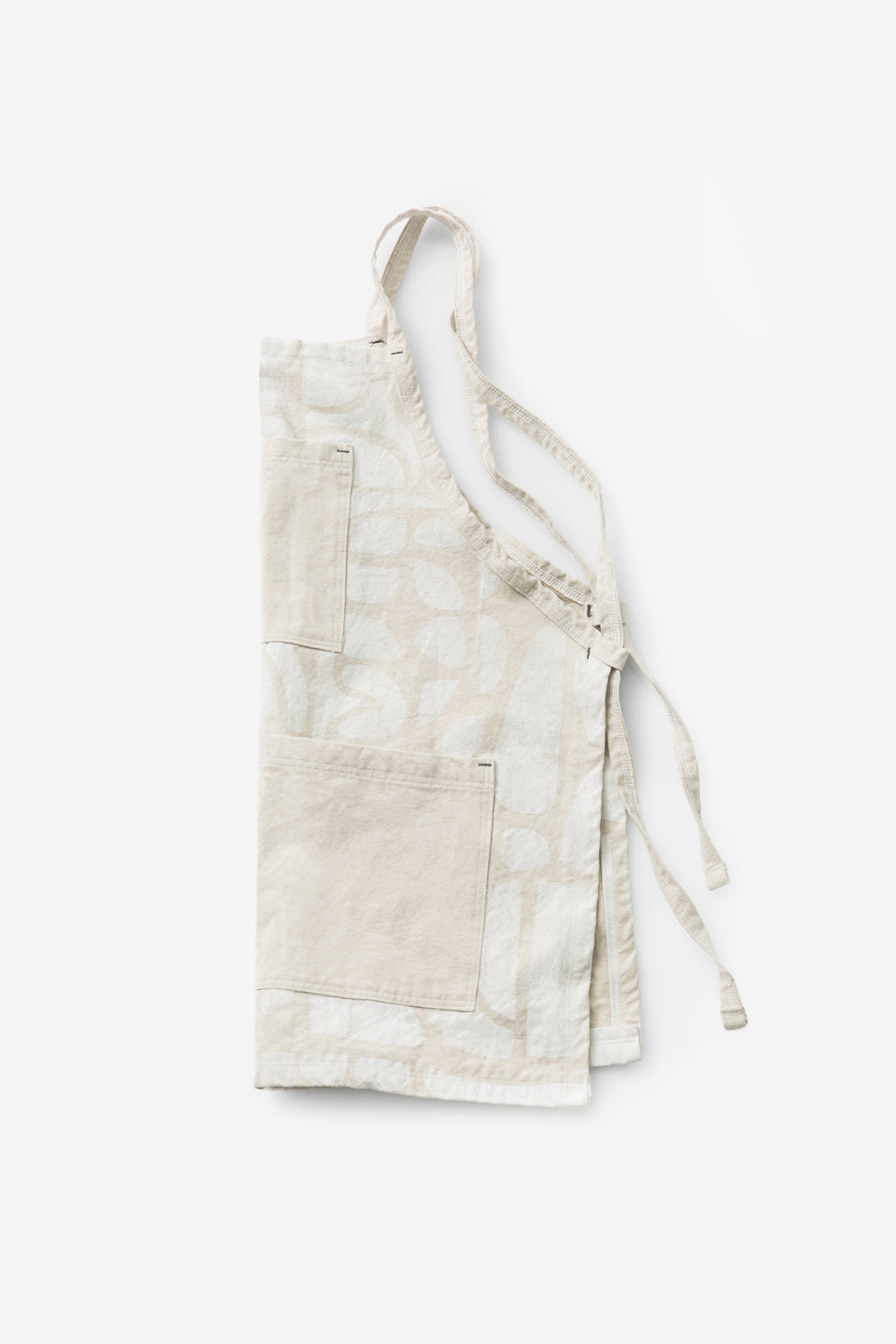 Alabama Chanin Tony Apron Canvas Apron with Hand Painted Floral Pattern