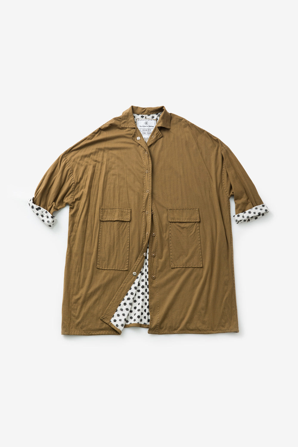 The School of Making The Faded Stars Car Coat Kit made with Organic Cotton and Hand-Sewn