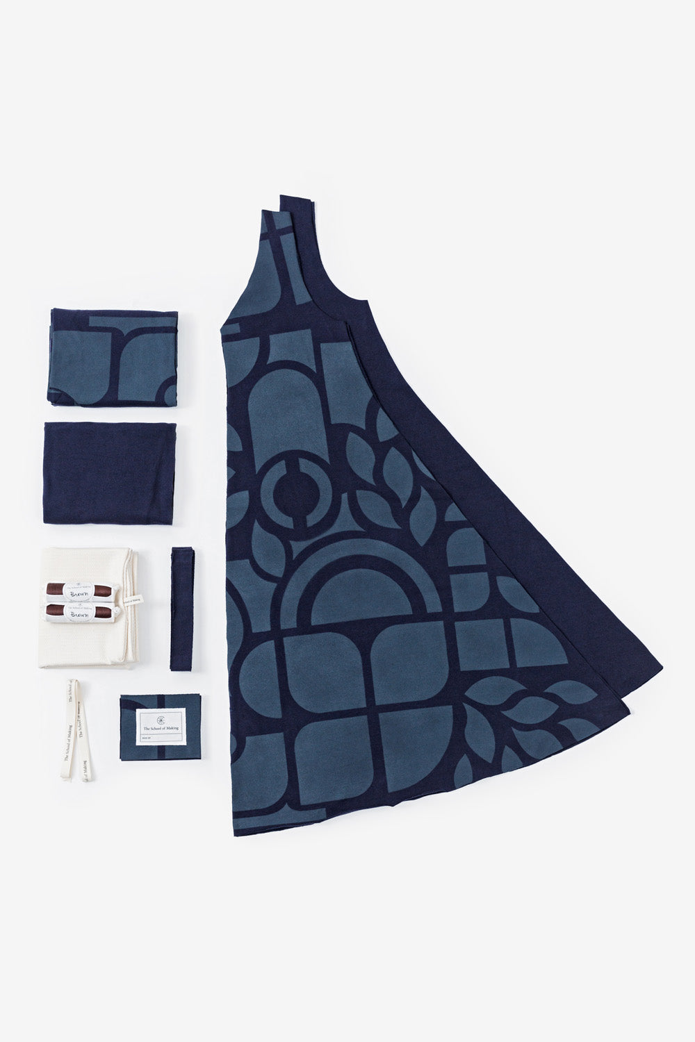The School of Making The A-Line Dress Kit  Organic Cotton DIY Sewing Kit for Makers