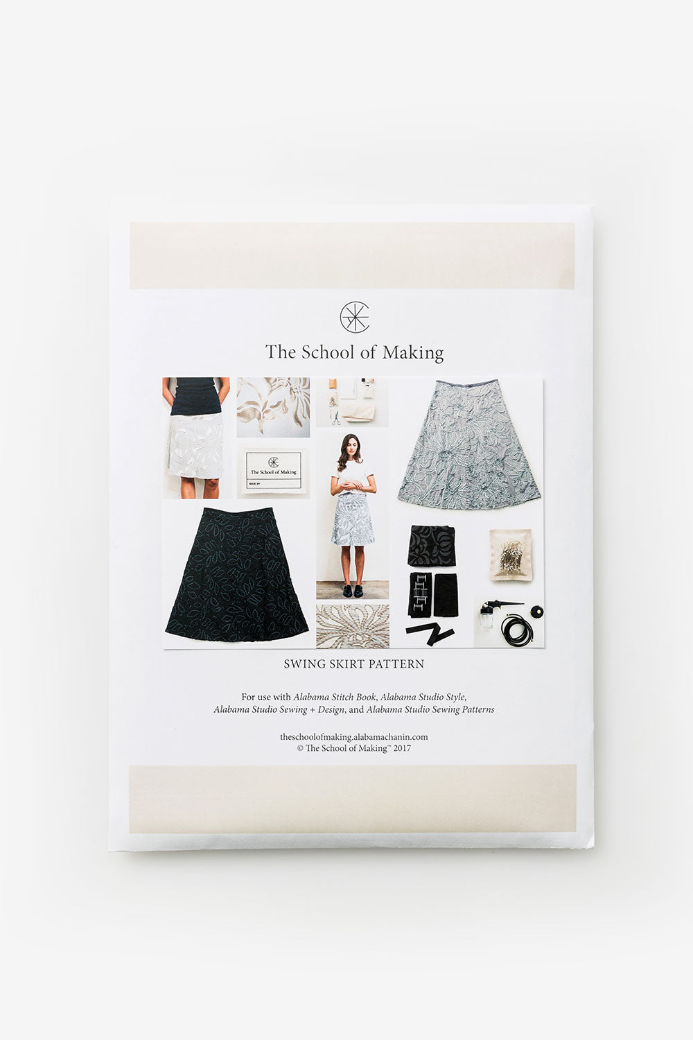 The School of Making Abstract Bundle Swing Skirt Pattern made with Organic Cotton Abstract Design