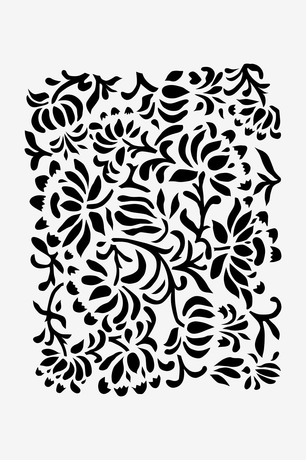 The School of Making Magdalena Stencil Flora Stencil Design for Hand-Painted Clothing Projects