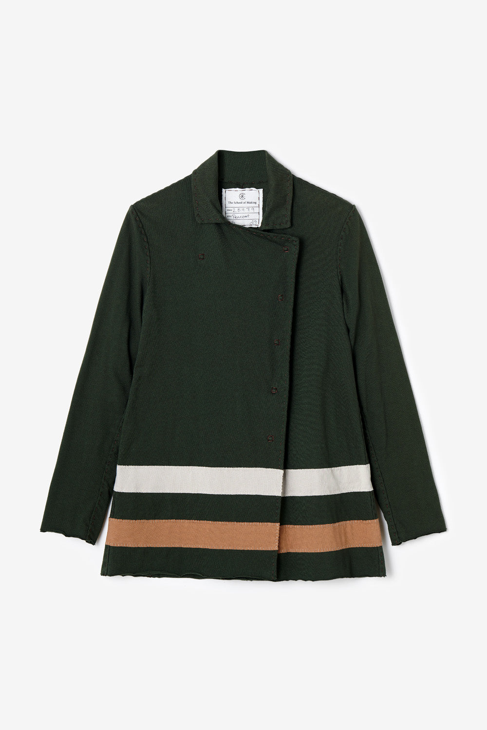 The School of Making The Peacoat Bundle Organic Cotton Coat with Colorblock Stripe