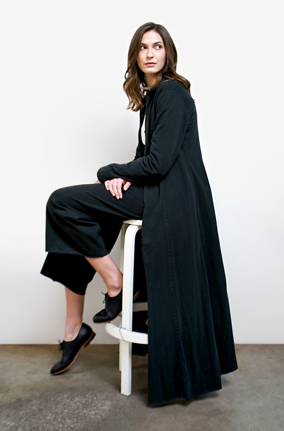 The School of Making The Trench Bundle with Organic Cotton Black Fabric