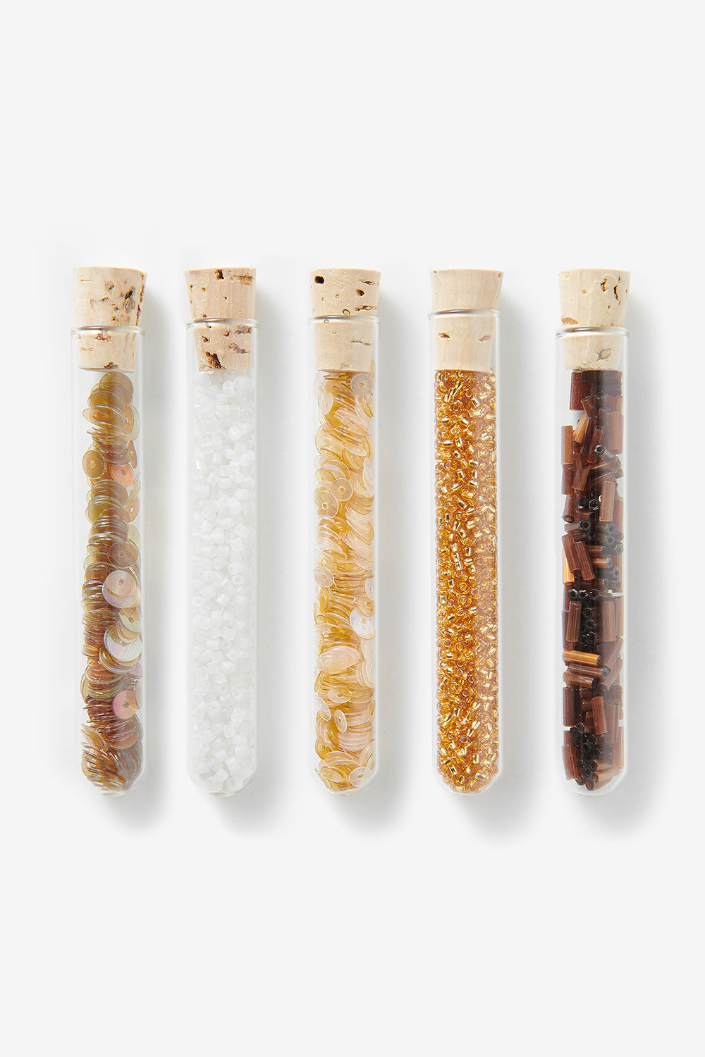 The School of Making Bead Sampler Sequins and Seed Beads in Glass Vial