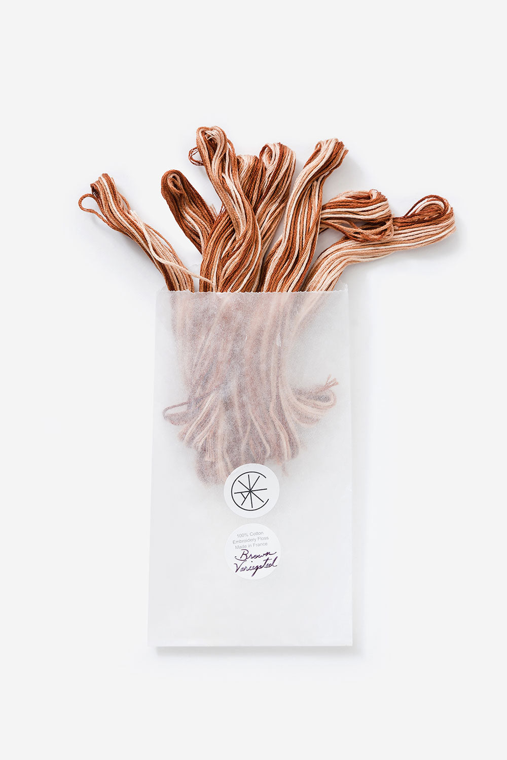 The School of Making Variegated Embroidery Floss Brown Floss