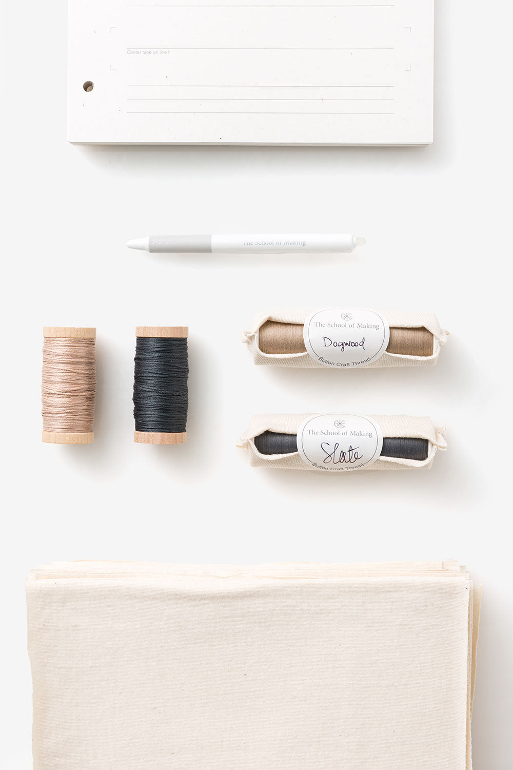 The School of Making Embroidery Sampler Maker Supplies for Embellishing and Sewing Handmade Clothing