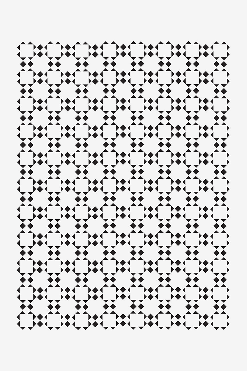 The School of Making Artwork: Check Stencil Tweed Inspired Stencil Design for Hand-Painted Clothing Projects in Black and White