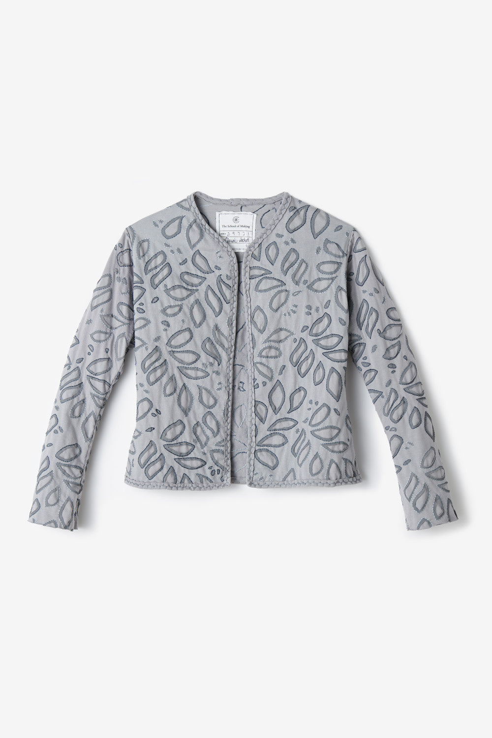 The School of Making Classic Jacket Organic Cotton Women's Jacket with Long Sleeves and Botanic Stencil