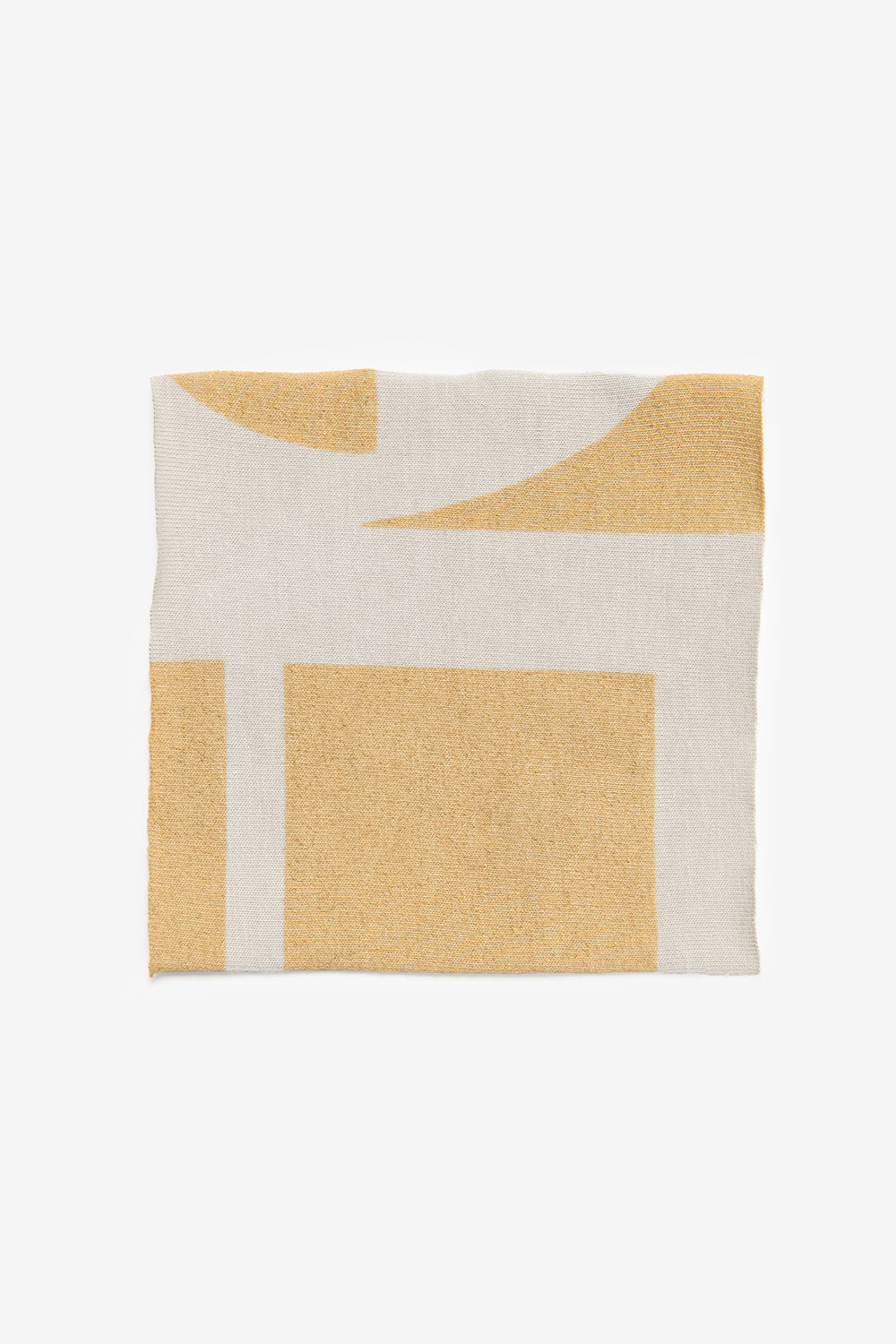 The School of Making Organic Cotton Swatches Abstract Metallic Stencil Design