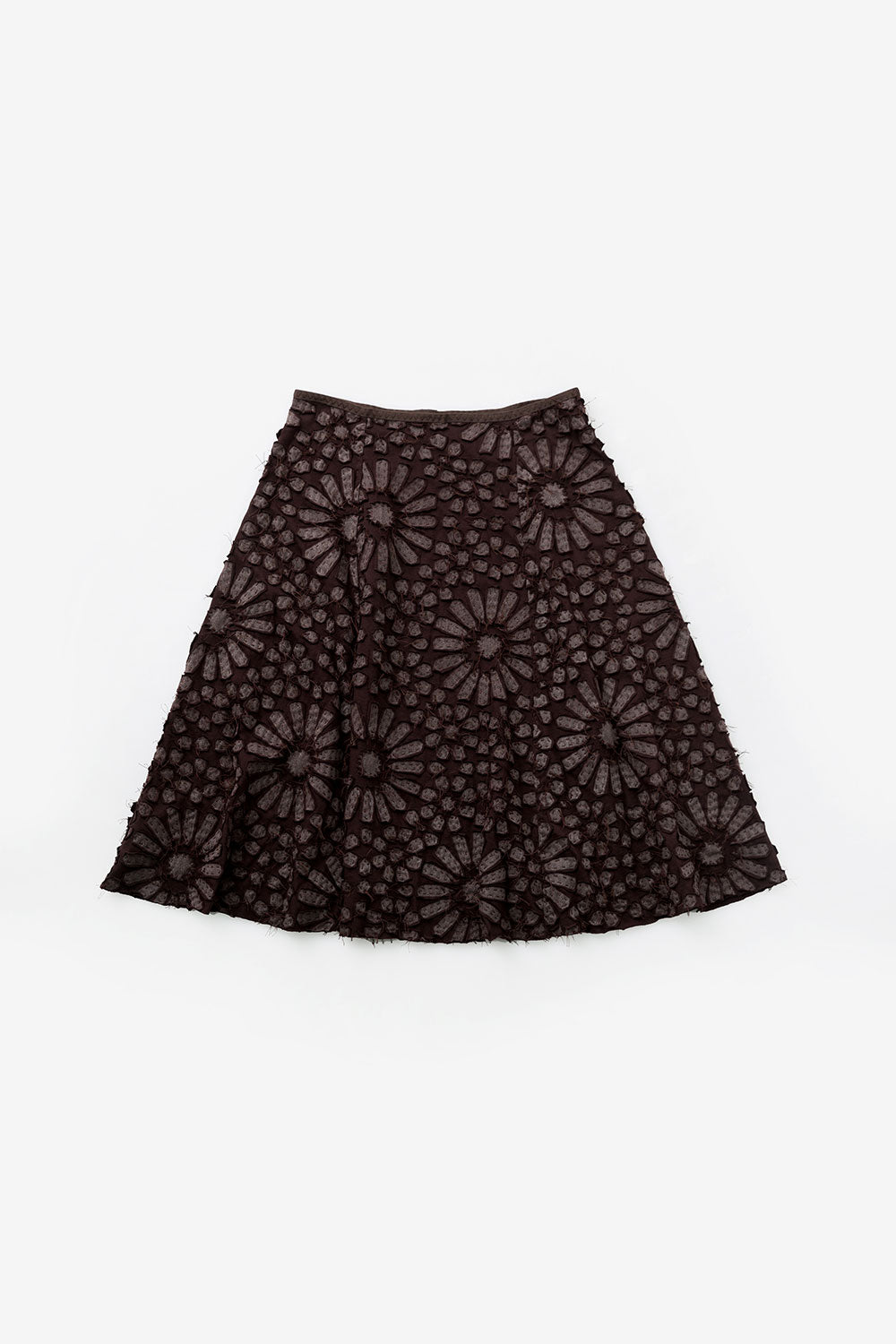 The School of Making Facets Stencil Abstract Floral Stencil Design for Hand-Painted DIY Clothing Projects on Brown Skirt
